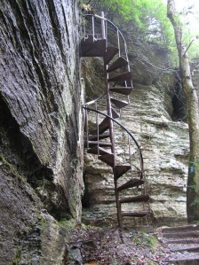 greeter falls stairs