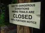 Mossy Ridge Trail at Percy Warner Park Closed