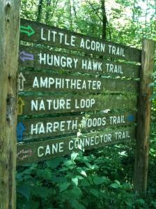 Trail signs at Edwin Warner Park