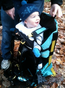 Owen's ready to hike.