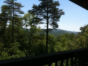 View from our cabin in Blue Ridge, Georgia